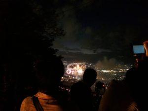 金華山から中日花火