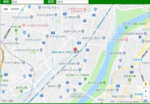 大阪地震震源地