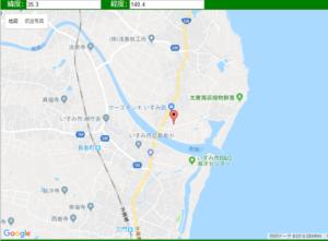 千葉県南部地震震源地