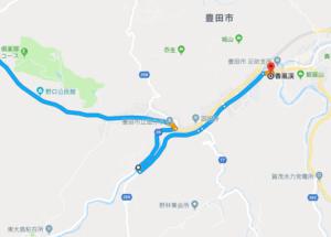 香嵐渓マップ渋滞回避1