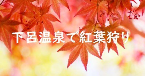 紅葉狩り下呂温泉
