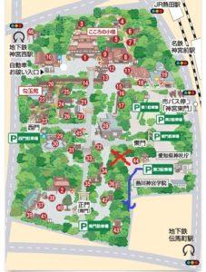 熱田神宮案内図進行方向